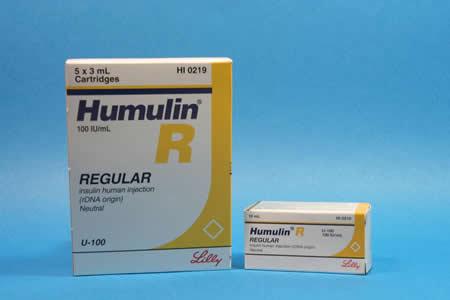 Humulin R là loại insulin thông thường và có tác dụng chậm