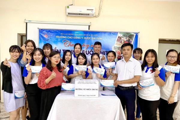 Trường Cao đẳng Y Dược Sài Gòn chung tay chia sẻ khó khăn với đồng bào Miền Trung